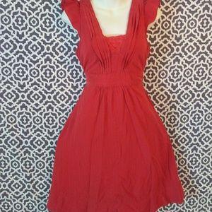 Maeve Anthro Dress Tie Back Size 6